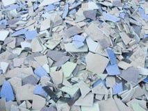 błękitny ceramiczna płytka Zdjęcie Stock