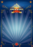 błękitny cyrkowy magiczny plakat Fotografia Stock