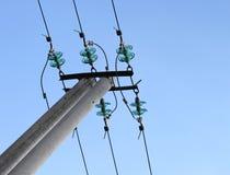 błękitny dielektryczny elektryczny izolator Zdjęcia Royalty Free