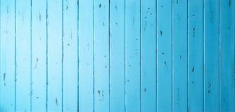 Błękitny Drewniany sztandaru tło Fotografia Stock