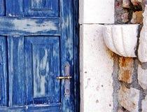 Błękitny drzwi Zdjęcia Royalty Free