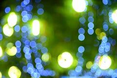 Błękitny i zielony bokeh abstrakta światła tło Obrazy Royalty Free