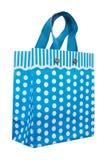 Błękitny kropki torba na zakupy Zdjęcie Royalty Free