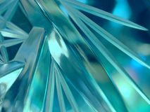 błękitny kryształ szklanki lodu nieprzezroczyste Zdjęcie Royalty Free