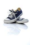 błękitny sneakers Zdjęcie Stock