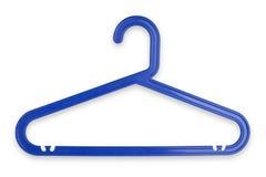 błękitny sukienny wieszak Obraz Stock