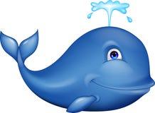 Błękitny wieloryba kreskówka Fotografia Royalty Free