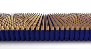 Błękitów bombowi ołówki Zdjęcia Royalty Free