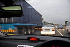 błękity eveing dżemu ruch drogowy Obraz Stock