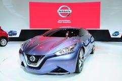 BKK - 11月28日:日产朋友我,概念汽车,在Thail的显示 库存图片