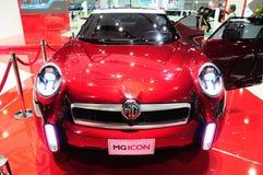 BKK - 11月28日:MG象, SUV概念汽车,在泰国的显示我 库存图片