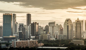 BKK city. Bangkok city view in a very late afternoon Royalty Free Stock Image