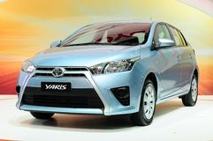 BKK - 28 DE NOVEMBRO: Toyota Yaris novo na exposição em Tailândia Internatio Fotografia de Stock Royalty Free
