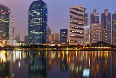 Bkk lights on water a Royalty Free Stock Images