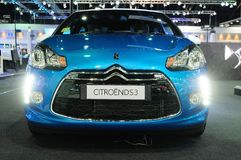 BKK - NOV 28: The Citroen DS3 on display at Thailand Internation Royalty Free Stock Photos