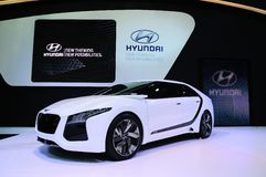BKK - NOV 28: Hyundai HND-6 on display at Thailand International Stock Photos
