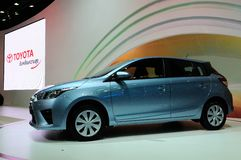 BKK - NOV 28: New Toyota Yaris on display at Thailand Internatio Royalty Free Stock Photos