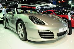 BKK - NOV 28: Porsche Boxster on display at Thailand Internation Stock Photos
