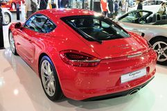 BKK - NOV 28: Porsche Cayman on display at Thailand Internationa Stock Image