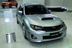 BKK - NOV 28: Subaru WRX STV on display at Thailand Internationa Stock Images