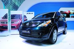 BKK - NOV 28: TATA ARIA on display at Thailand International Mot Royalty Free Stock Photo