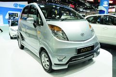 BKK - NOV 28: TATA Nano on display at Thailand International Mot Royalty Free Stock Images