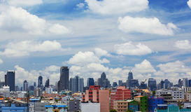 Bkk skyline under blue Stock Image