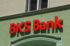 BKS银行商标 库存图片