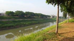 Bkt Jakarta del río Imagenes de archivo