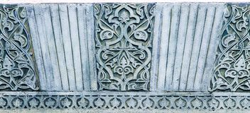 Bkue oriental pattern in Dulber palace, Crimea, Ukraine, background. Blue stone oriental pattern in Dulber palace, Crimea, Ukraine, background Royalty Free Stock Image