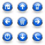 Bkue web icons set Royalty Free Stock Photos