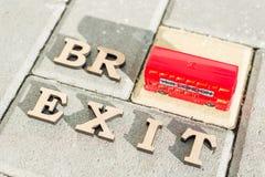 BKyiv, uA, 17 11 Sortie 2017 de la Grande-Bretagne de l'Union européenne, abrégé sur mot de Brexit dans des lettres de vintage, j Photo stock