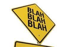 - Blá - sinal de estrada blá blá Foto de Stock
