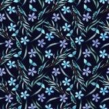 blå blommamodell stock illustrationer