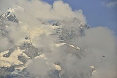 Blà ¼ emlisalphorn od Kandersteg terenu górskiego Berner-Oberland Szwajcaria Obraz Royalty Free