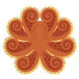 bläckfisk royaltyfri illustrationer