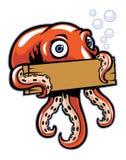 Bläckfiskhåll tecknet Royaltyfria Foton