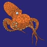 Bläckfiskillustration Arkivbild
