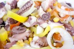 bläckfisksallad Arkivbild