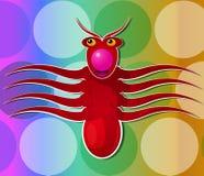 Bläckfiskvarelse, illustration Arkivfoto