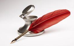 bläckhornpenna Royaltyfri Bild