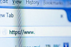 Bläddra för internet arkivfoto