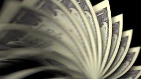 Bläddra USA hundra dollarräkningar stock video