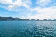Blända sikter av ön Arkivfoton