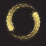 Blänka cirkeln för stjärnadamm Royaltyfri Bild