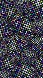 Blänka diskot klumpa ihop sig det vertikala banret Den blåa lilan mousserar textur Skimra abstrakt bakgrund för sfärer Festlig id vektor illustrationer