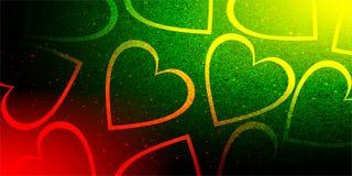 Blänka förälskelse för dagen för valentin för valentinbakgrundshjärta stock illustrationer