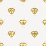 Blänka guld- diamanter royaltyfri illustrationer
