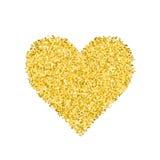 Blänka guld- hjärta Royaltyfri Foto