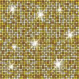 Blänka guld- textur för din design Modell för stenplattastenläggning Geometrisk sömlös vektormodell stock illustrationer